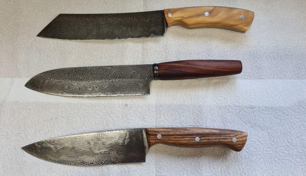 Schmiede-Kurse: Fertige Messer von Teilnehmern, Foto 30